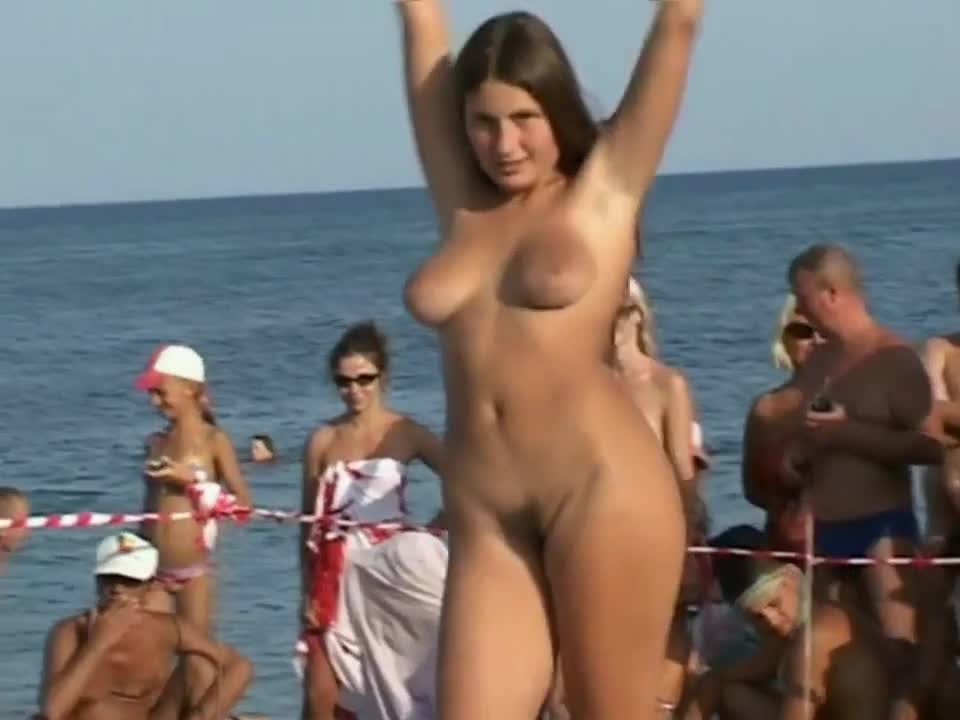 Nudist Beach Dance Contest